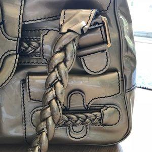 82b23058f5a Valentino Garavani Bags - Valentino Histoire Gold Patent Leather Satchel